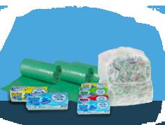 Sacos para Lixo em Rolo Picotados - Verde/Preto